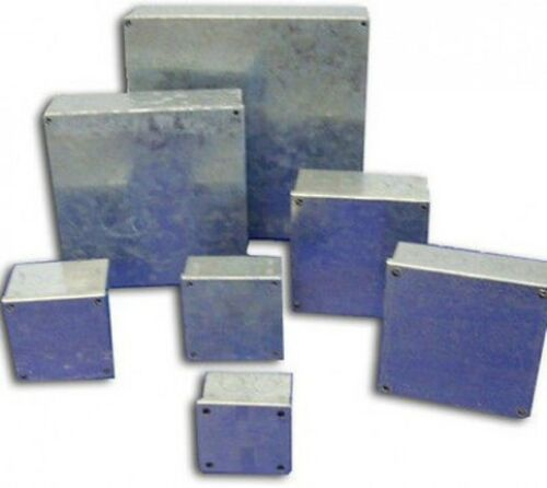 """Galvanised Adaptable Steel Box Electrical Enclosure 9x4x4/"""" inches 230x100x100mm"""