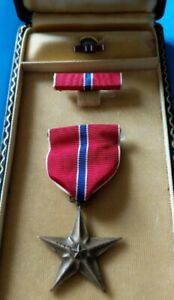 Bronze Star Medal and Case 3 pieces