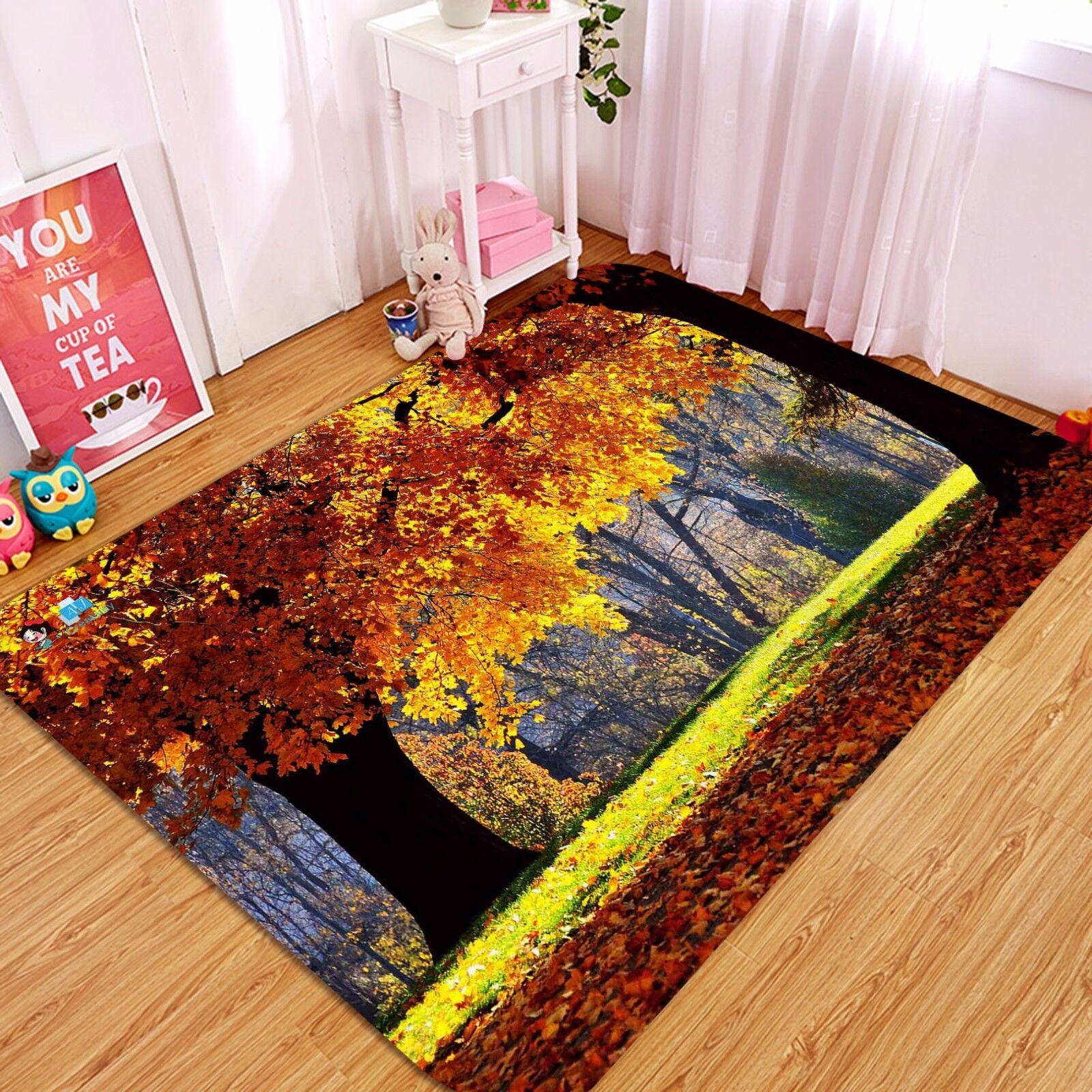 3D Gelb Tree 429 Non Slip Rug Mat Room Mat Quality Elegant Photo Carpet CA
