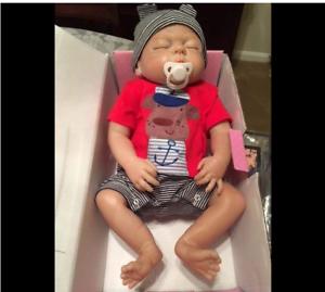 "22"" Real Reborn Dolls Boy Full Body Silicone Realistic Baby Anatomically Correct"