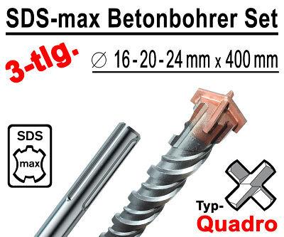 4 Schneiden Betonbohrer Steinbohrer SDS Max Bohrer 28 x 600 mm Quadro X