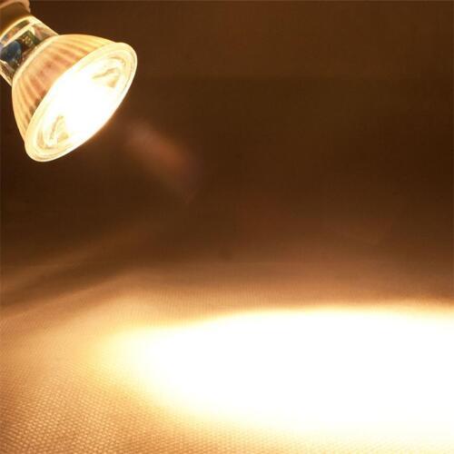 5 x COB GU10 Glas Leuchtmittel warmweiß 400lm Strahler Birne Spot Lampe 230V 5W