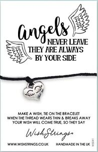 Wish Bracelet. Angels Never Leave They Are Always By Your Side. Handmade UK Gift
