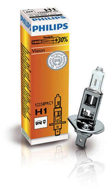 PHILIPS H1 55 Watt 12258 P14.5s 55W Scheinwerfer Lampe Vision +30% Abblendlicht
