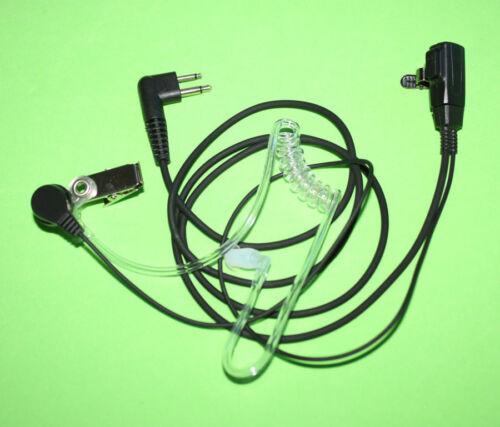 2x SURVEILLANCE MIC EARPIECE FOR MOTOROLA CP200 PR400 CLS HYT RADIOS HEADSET