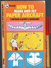 109 page How to Make PAPER AIRCRAFT lots of skills & knowledge. Plus designs!
