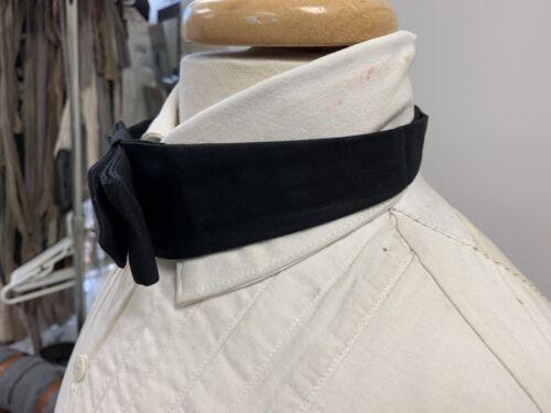 NEW 19th century Victorian style Man/'s BLACK cotton Cravat // Necktie buckled