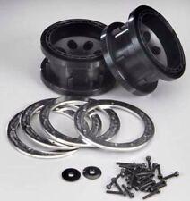 HPI Rock 8 Beadlock Black 2.2  Crawler Wheels 12mm Stainless Steel Rings