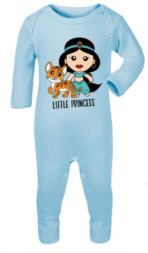 Aladdin Princess Jasmine Romper Babygrow Sleepsuit Playsuit Gift 100/% Cotton