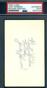 Judy-Johnson-PSA-DNA-Coa-Autograph-Hand-Signed-3x5-Index-Card