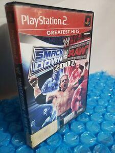 WWE-SmackDown-vs-Raw-2007-Sony-PlayStation-2-2006-PS2-No-Manual