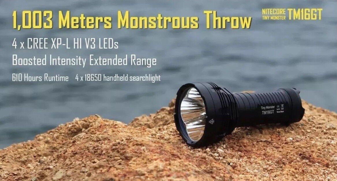 Nitecore TM16GT Flashlight Searchlight XP-L HI V3 LED 3600Lm 1003m Throw New