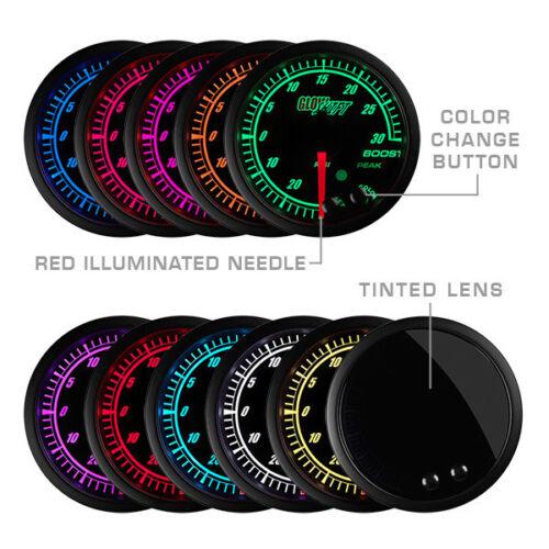 Glowshift Elite 10 Color BAR Electronic Boost//Vacuum Gauge GS-ET01-BAR