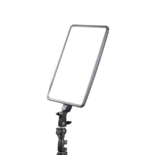 45W Slim-Profiled Daylight Balanced LED Panel Three Head Kit Boom Stand