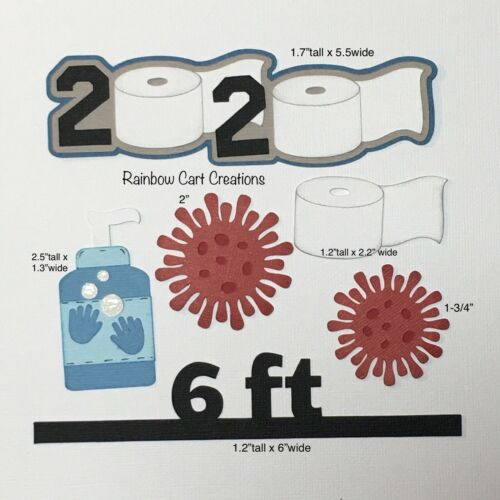 Virus 2020 Pandemic Toilet Paper Pre-Made Die Cut Embellishment Scrapbook 6-feet