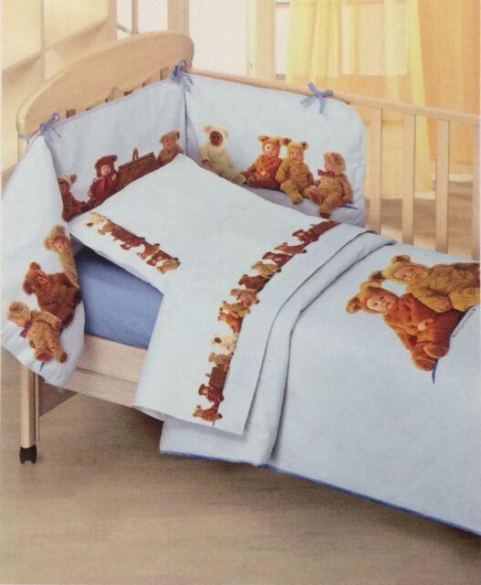 Anne Geddes Piumoni E Paracolpi.Completo Piumone Sfilabile Anne Geddes Teddy Bears Azzurro