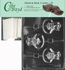 Gingerbread House Lolly Chocolate Candy Mold FREE STICKS