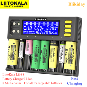 Liitokala Lii S8 Battery Charger Li Ion 8multichannel All Rechargeable Batteries Ebay