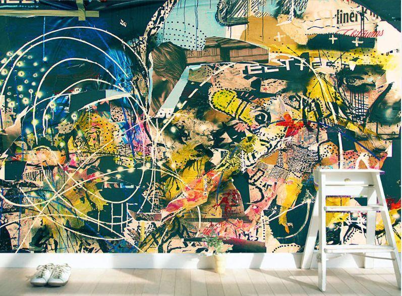 3D Lovely graffiti 72 WallPaper Murals Wall Print Decal Wall Deco AJ WALLPAPER