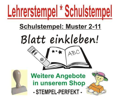 Lehrerstempel  Stempel  Schule  Belobigungsstempel  Schulstempel  M 2-11