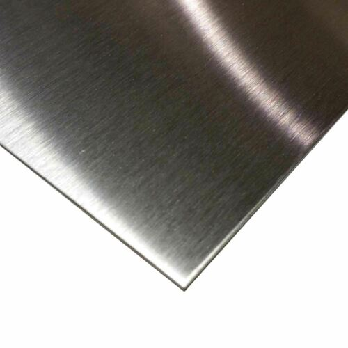 "16 ga. 304 x 24/"" x 24/"" #4 Brushed Stainless Steel Sheet 0.060/"""