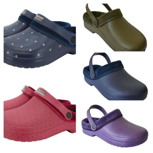 Town /& Country Fur Cloggies Mens /& Womens Soft Lightweight Cushioned Clogs