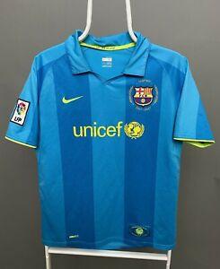 FC BARCELONA 2007 2008 NIKE AWAY FOOTBALL SOCCER SHIRT JERSEY SIZE YOUTH XL