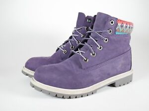 Timberland-6-034-Premium-Purple-Suede-Sweater-Multi-Color-Girls-Size-6-5-Pre-Owned