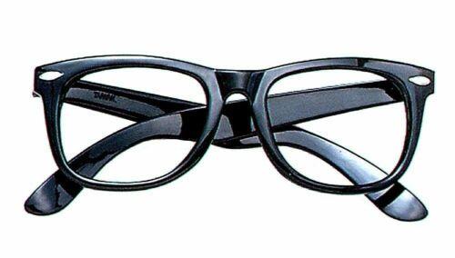 Retro Geek Fashion Unisexe Lunettes sans lentille Faux Eye Lunettes Cadre Noir Halloween