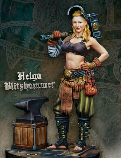 SCALE 75 SSP-012 STEAM WARS - HELGA BLITZHAMMER - 75mm bianca  METAL