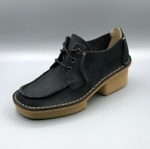 Shoes Nuevo Negro Heel veldta Chunky Uk Nubuck D mujer Clarks Auberon 3 para WpTqwrpO0