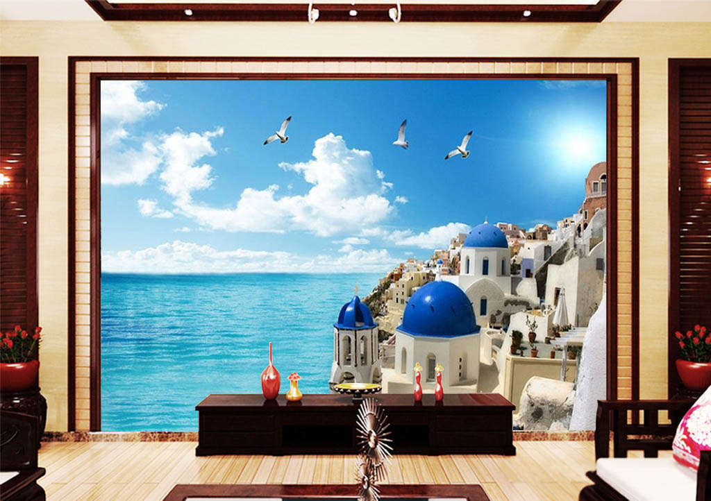 El lujo Villa Villa Villa 3D Completo Mural de Pared Foto Wallpaper impresión Casa Niños Decoración 3eefb6