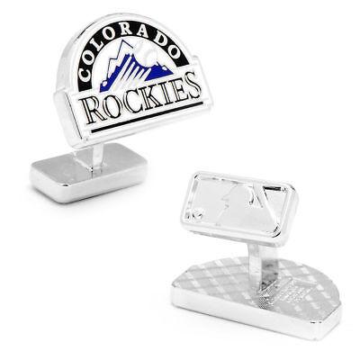 Sport Deluxe Colorado Rockies Palladium Manschettenknöpfe Neu In Mlb QualitäT Zuerst