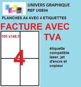 100-Planches-A4-de-4-etiquettes-A6-format-105-x-148-1-mm-soit-400-etiquettes-A6