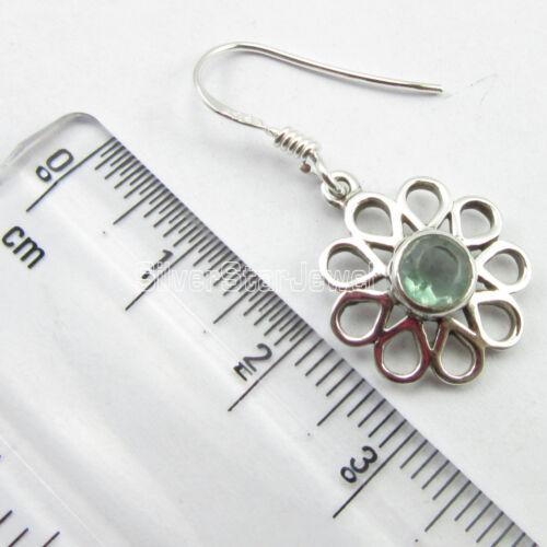 APATITE Vintage Style Dangle Boucles d/'oreilles Femme Nouveau Bijoux 925 Argent Pur