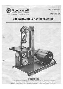 Details about Delta Rockwell No  31-350 - Sander/Grinder Instructions