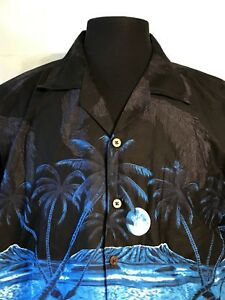 4e0a435b Favant Mens Button Up Short Sleeve Hawaiian Camp Shirt palm trees ...