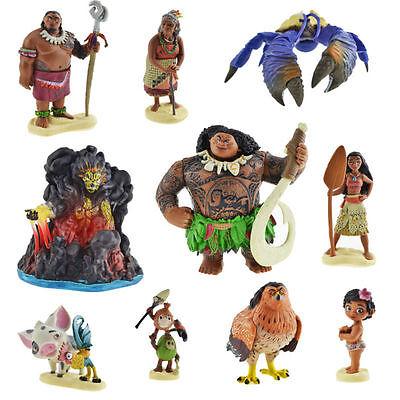 Movie Character Colletion Moana Maui Heihei Pig Pua TeKa Kakamora Figure 10 PCS