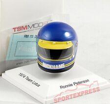NEW TSM15AC10 1/8 Ronnie Peterson Helm, Lotus F1 1974