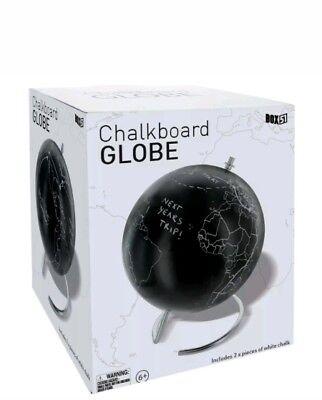Write on It Chalkboard Surface NIB Desktop Globe World Traveler Map