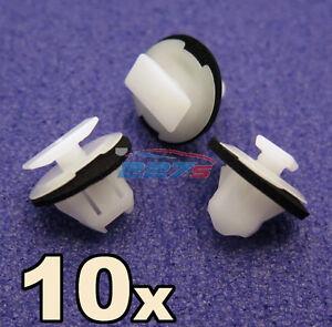 10x-Rueda-Arch-envolvente-Trim-Clips-Para-Nissan-Juke-amp-X-trail-Wing-Fundicion-Clip