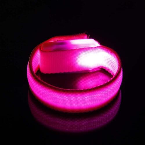 leuchtende led handgelenk band läuft es im mittelfeld an licht armband PW