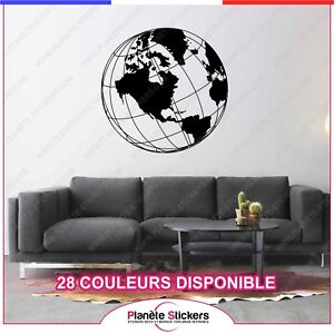 Wall Stickers Mondo.Details About Stickers Map Monde Globe Autocollant Muraux Deco Carte Ref2 Mapmonde