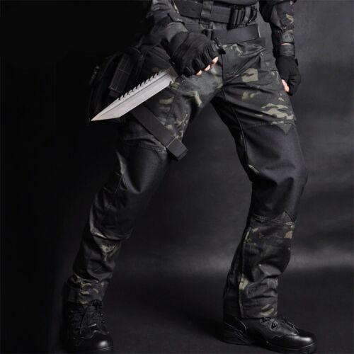 Homme Pantalons Militaires Armée Combat Tactique Pantalon Cargo Randonnée Décontracté Camouflage