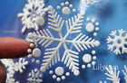 34 Christmas 3D Snowflake Decor Window Wall Sticker Self Adhesive  Glow in Dark