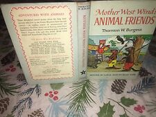 Mother West Wind's Animal Friends by Thorton W. Burgess - Hardcover 1912