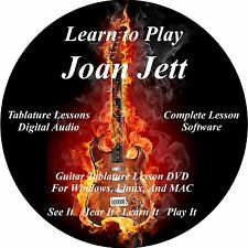 Joan Jett Guitar TABS Lesson CD 39 Songs + Backing Tracks + BONUS!