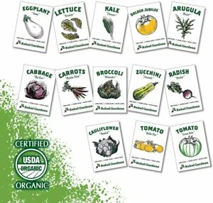 Heirloom Vegetable Seed Organic Non-GMO Home Garden Planting 13 Variety Pack New