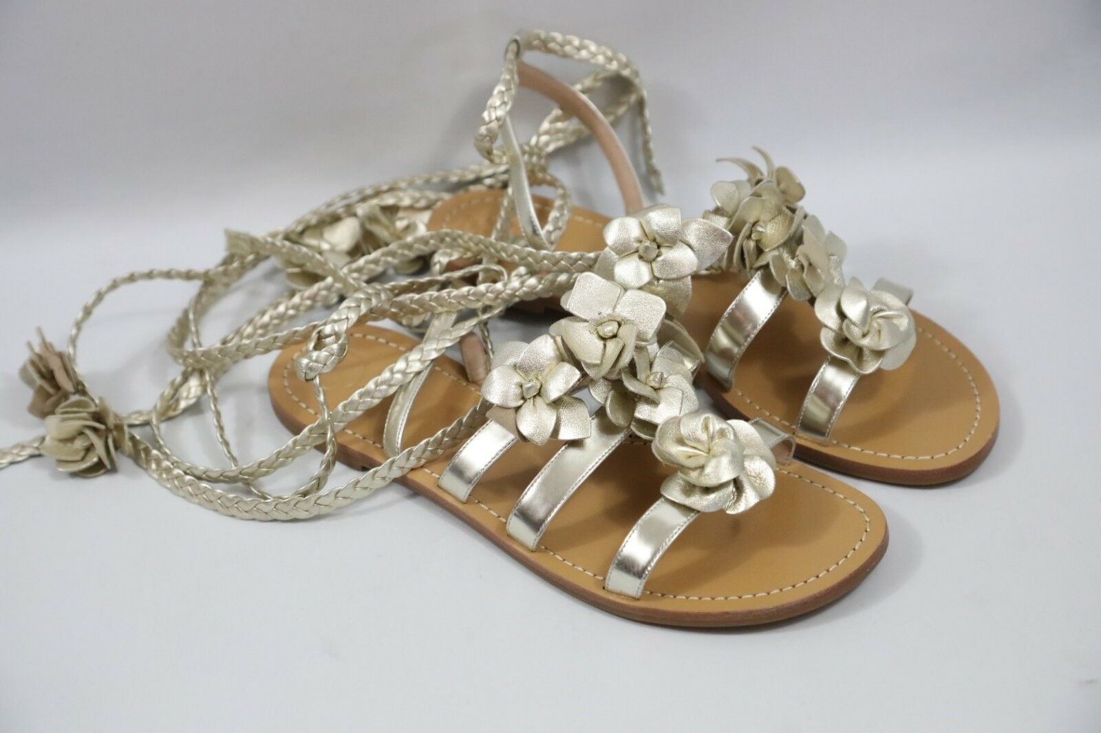 128 Tory Burch Blossom Gladiator Sandals Size 10  retail  325