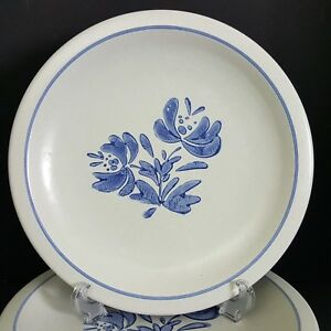 Pfaltzgraff-Yorktowne-4-Dinner-Plates-Blue-USA-10-25-inch-More-Pieces-Available